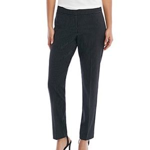 NWT The Limited 10 pants Black/White pinstripes